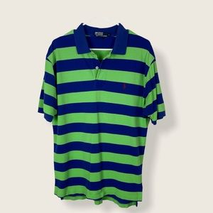 Polo by Ralph Lauren 90s vintage striped polo LG